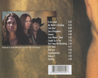Jesse Evans & The Crash - Hunger CD