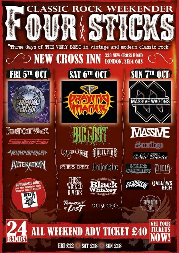 Four Sticks – Classic Rock Weekender